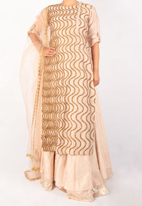 JOY MITRA SOPHISTICATED KURTA AND LEHENGA SET
