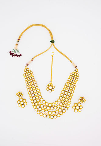 KUNDAN MULTI-LAYER NECKLACE SET