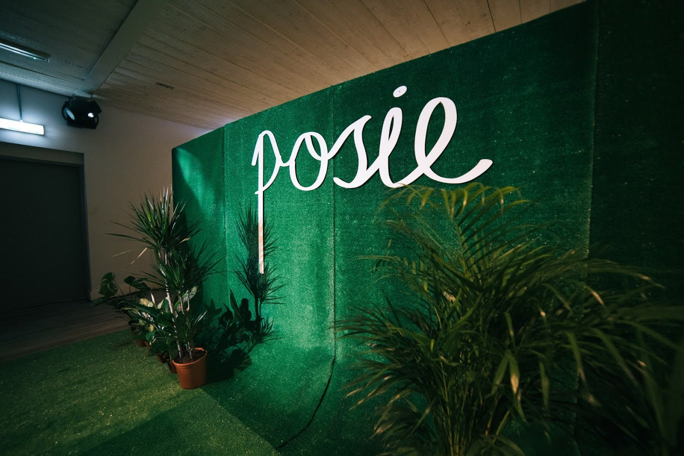 Posie launch backdrop