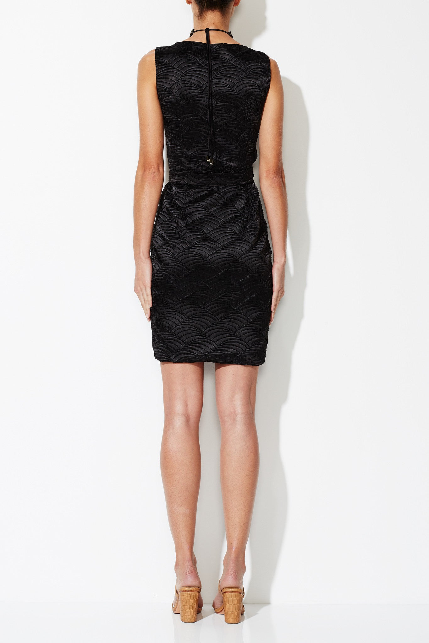 URSULA WRAP DRESS BLACK