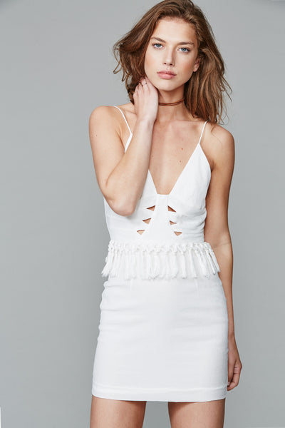 HALSTON DRESS WHITE