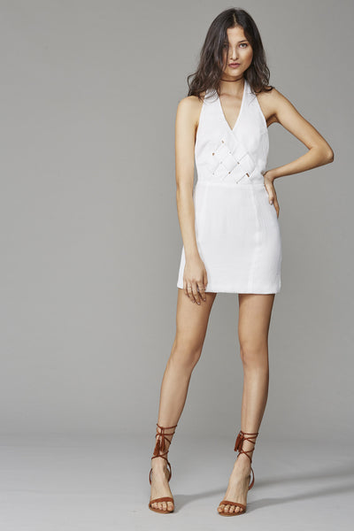 GIA HALTER DRESS WHITE