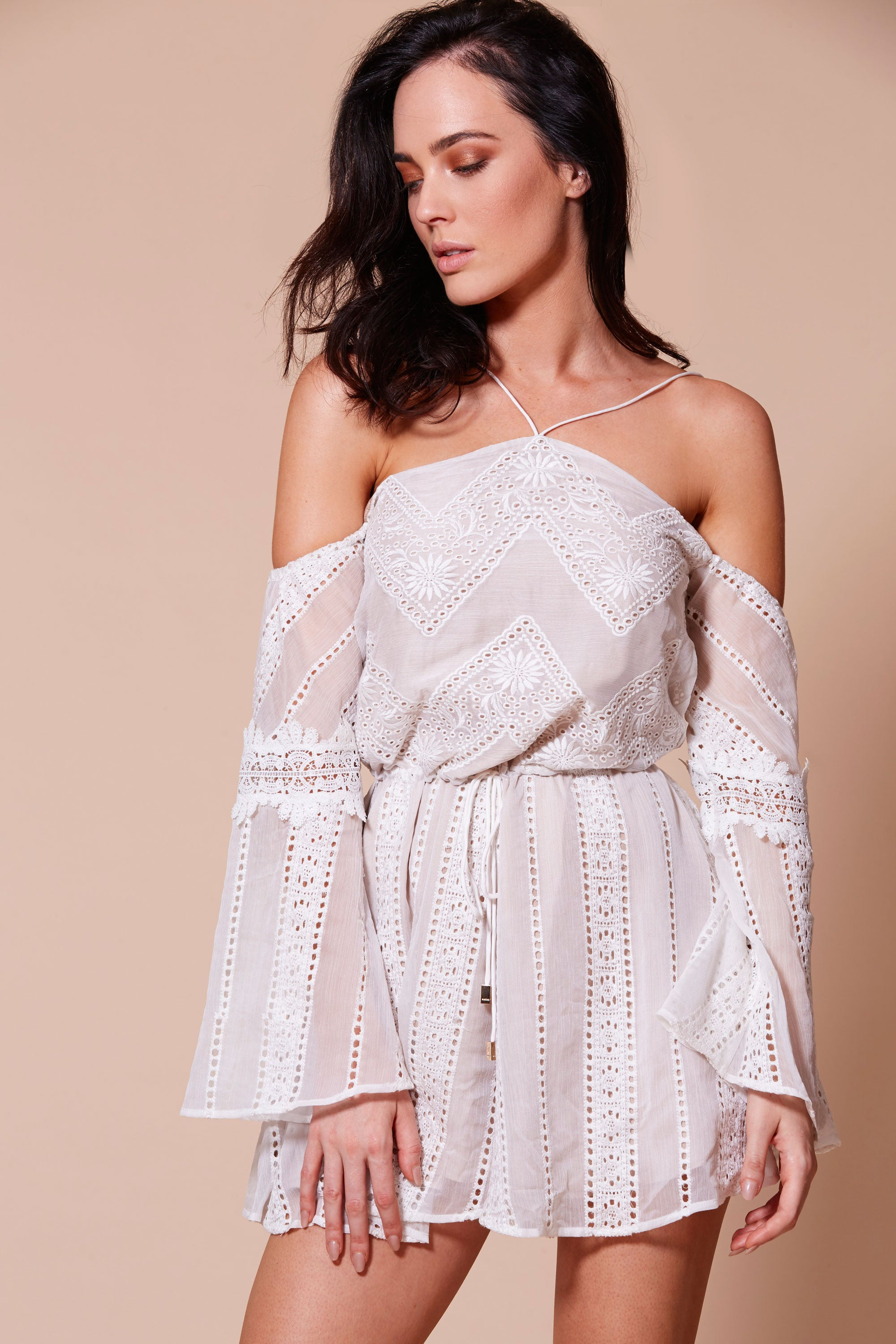 PRE ORDER: IBERIA PLAYSUIT WHITE