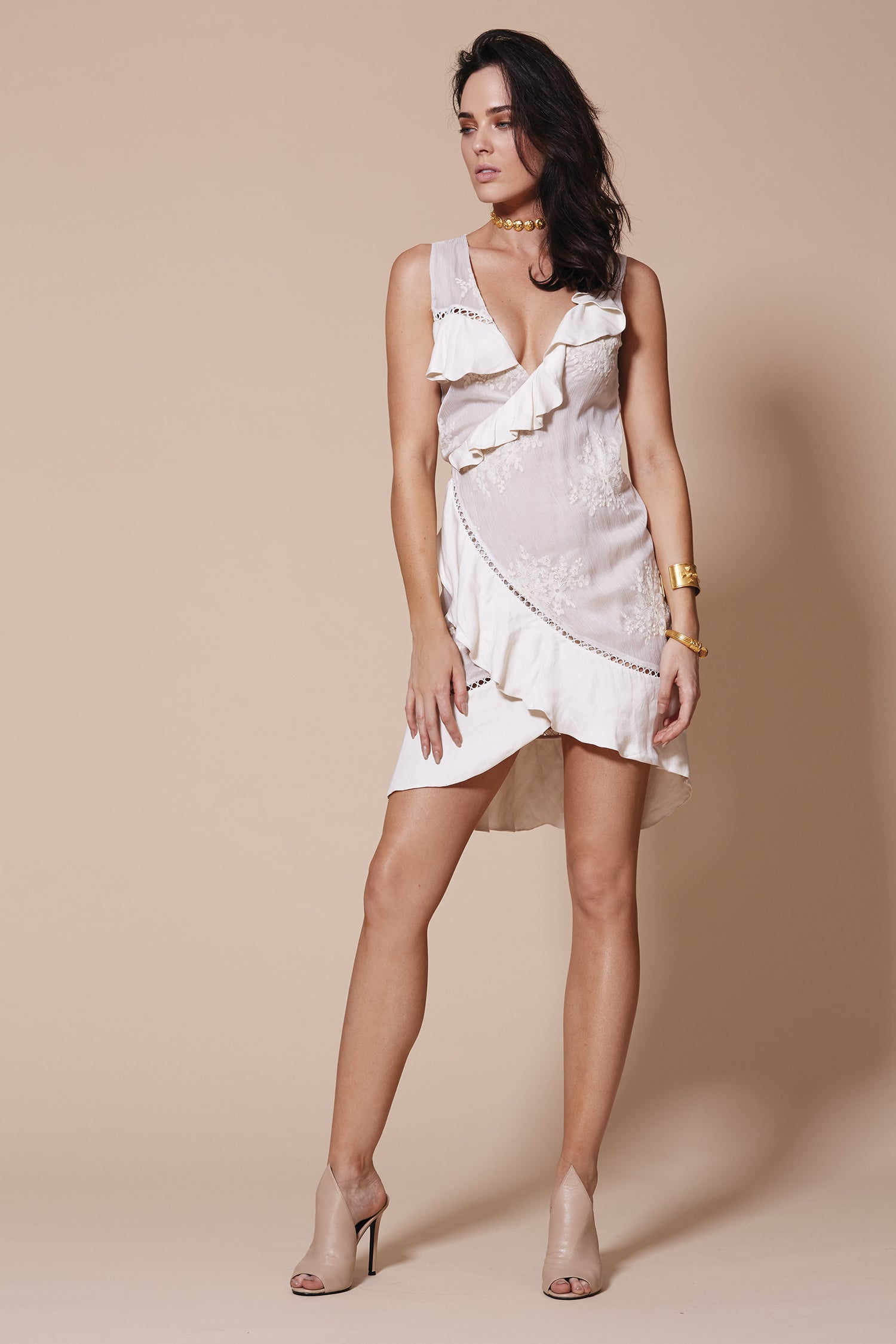 RUMBA WRAP DRESS WHITE