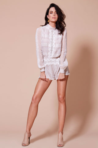 CHARISMA PLAYSUIT WHITE