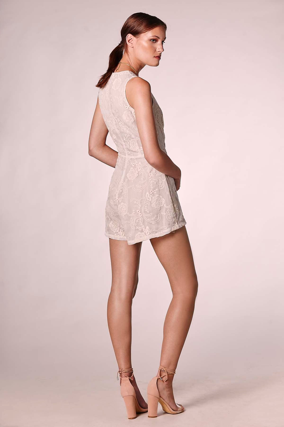 WAYFARER PLAYSUIT WHITE