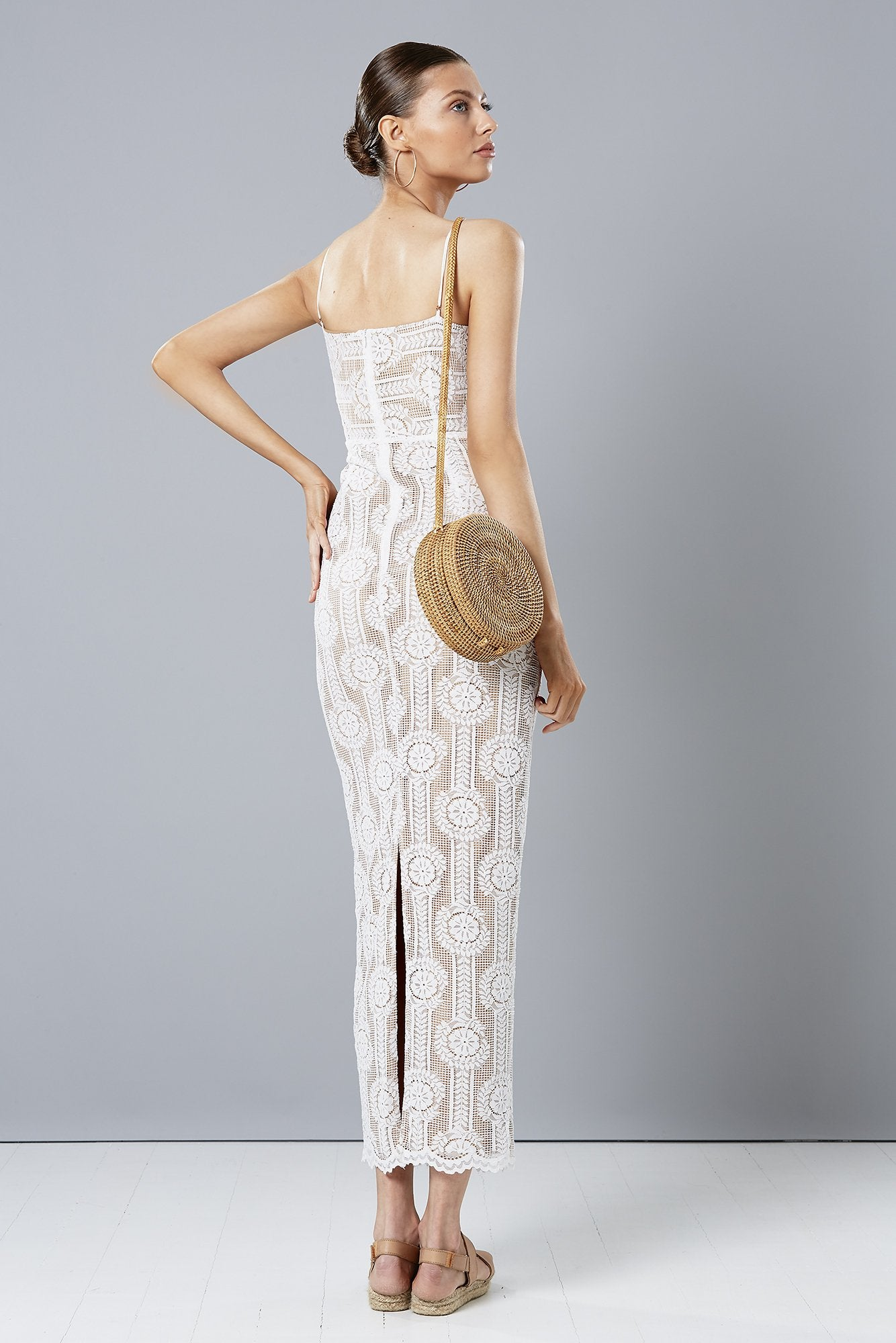 WISTERIA MAXI DRESS WHITE