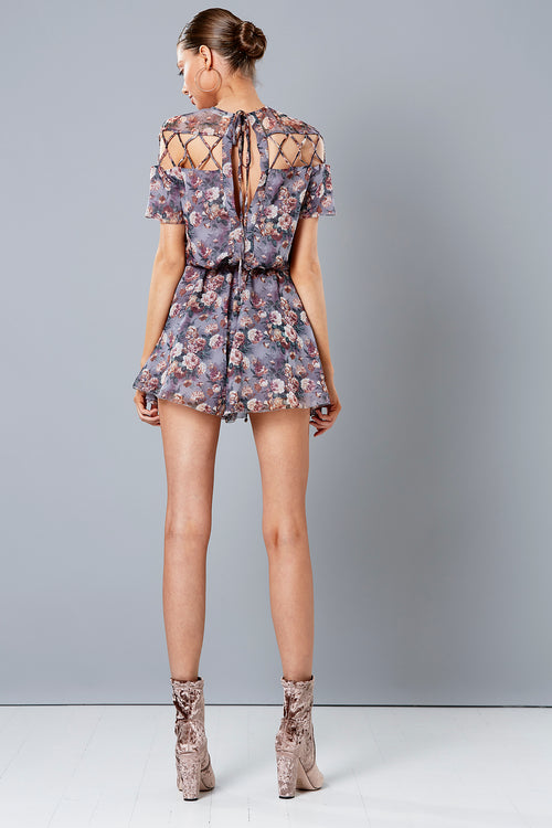 FLORIADE LATTICE PLAYSUIT
