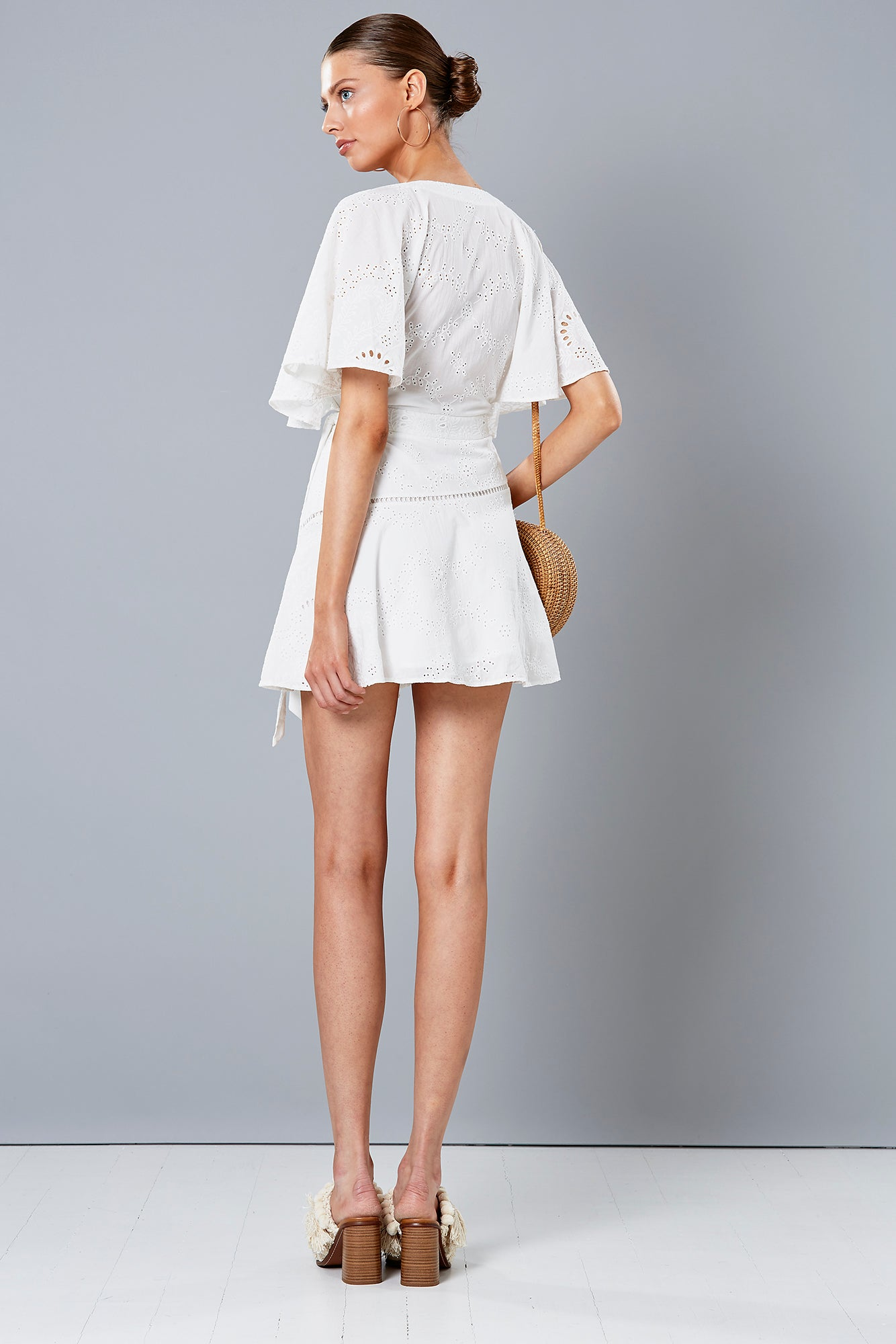 PRIMROSE WING DRESS WHITE