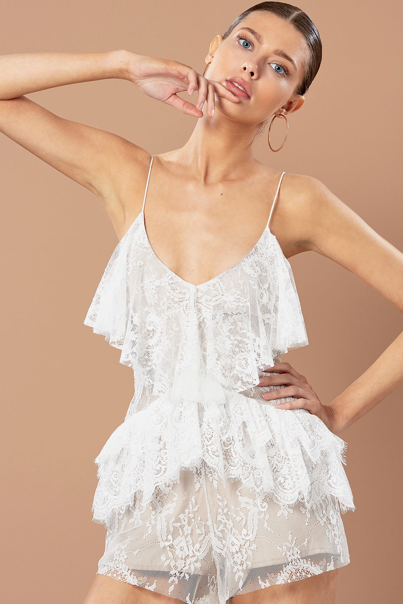 WILLOW PLAYSUIT WHITE