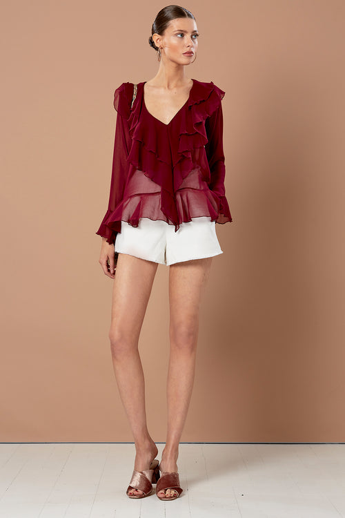 WATERFALL SILK TOP WINE