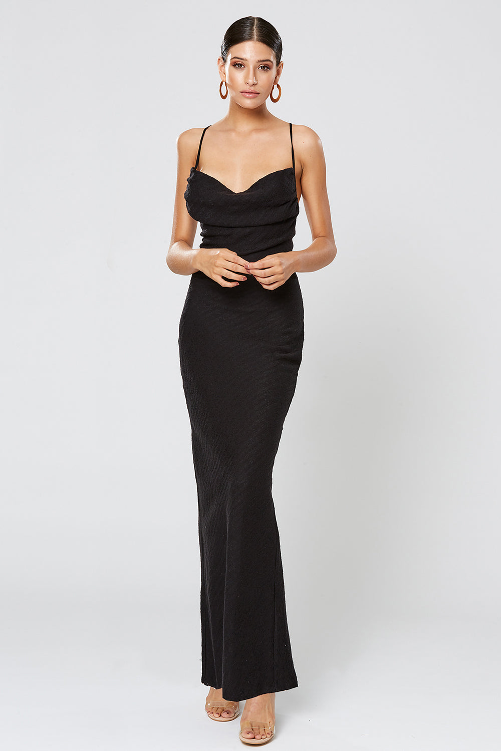 4c60dba3864 FORTUNE COWL NECK MAXI DRESS BLACK – WINONA