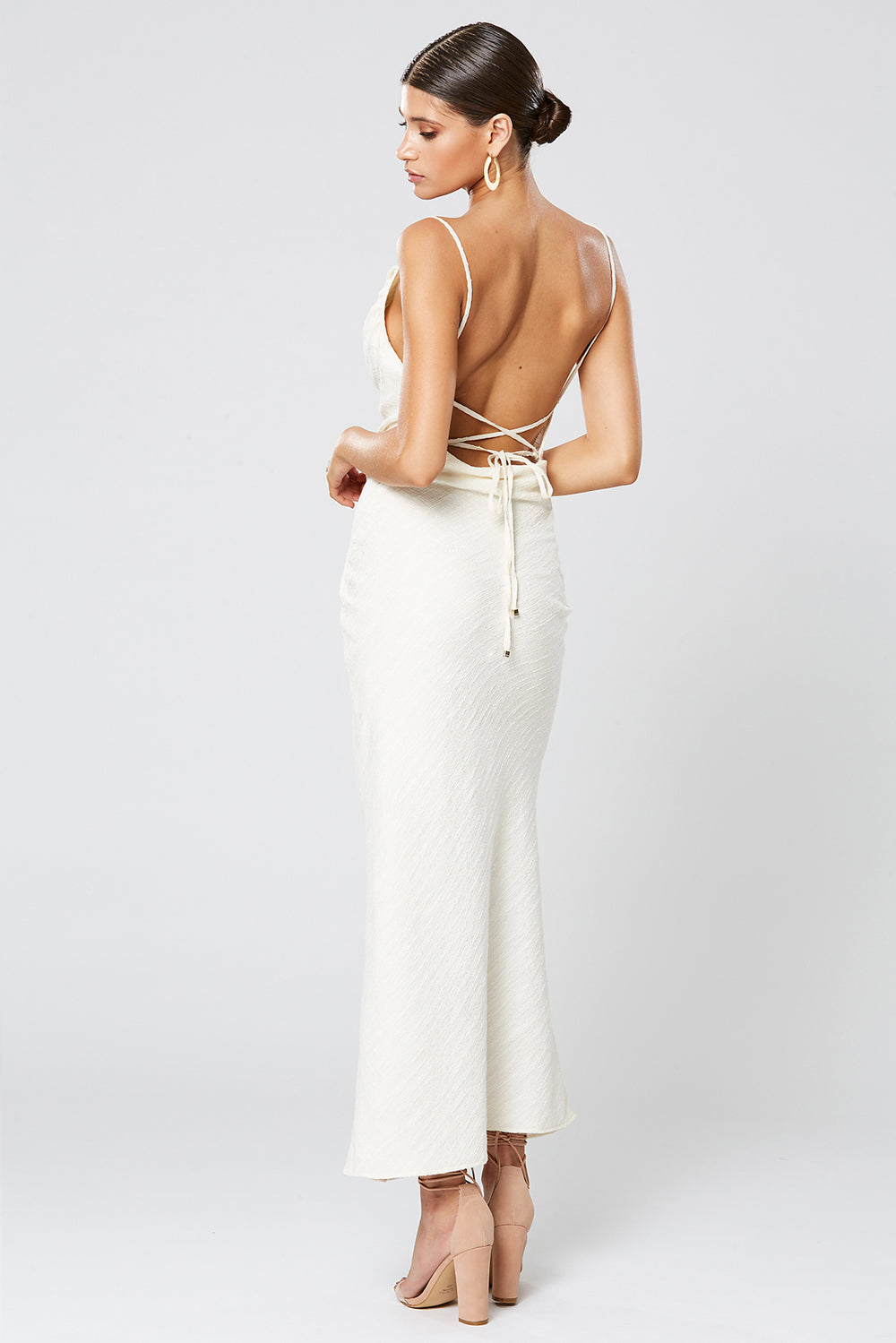 FORTUNE COWL NECK MAXI DRESS IVORY