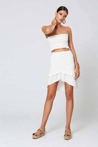 PRIMROSE WRAP DRESS WHITE