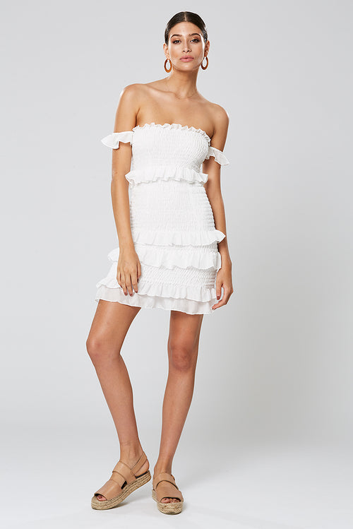 XIA SHORT DRESS WHITE