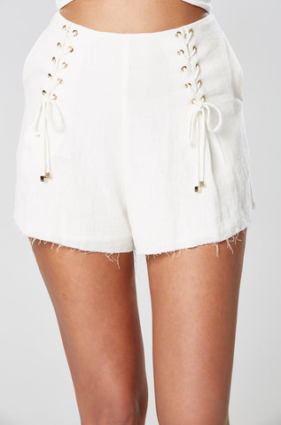 IMAN SHORT DRESS WHITE