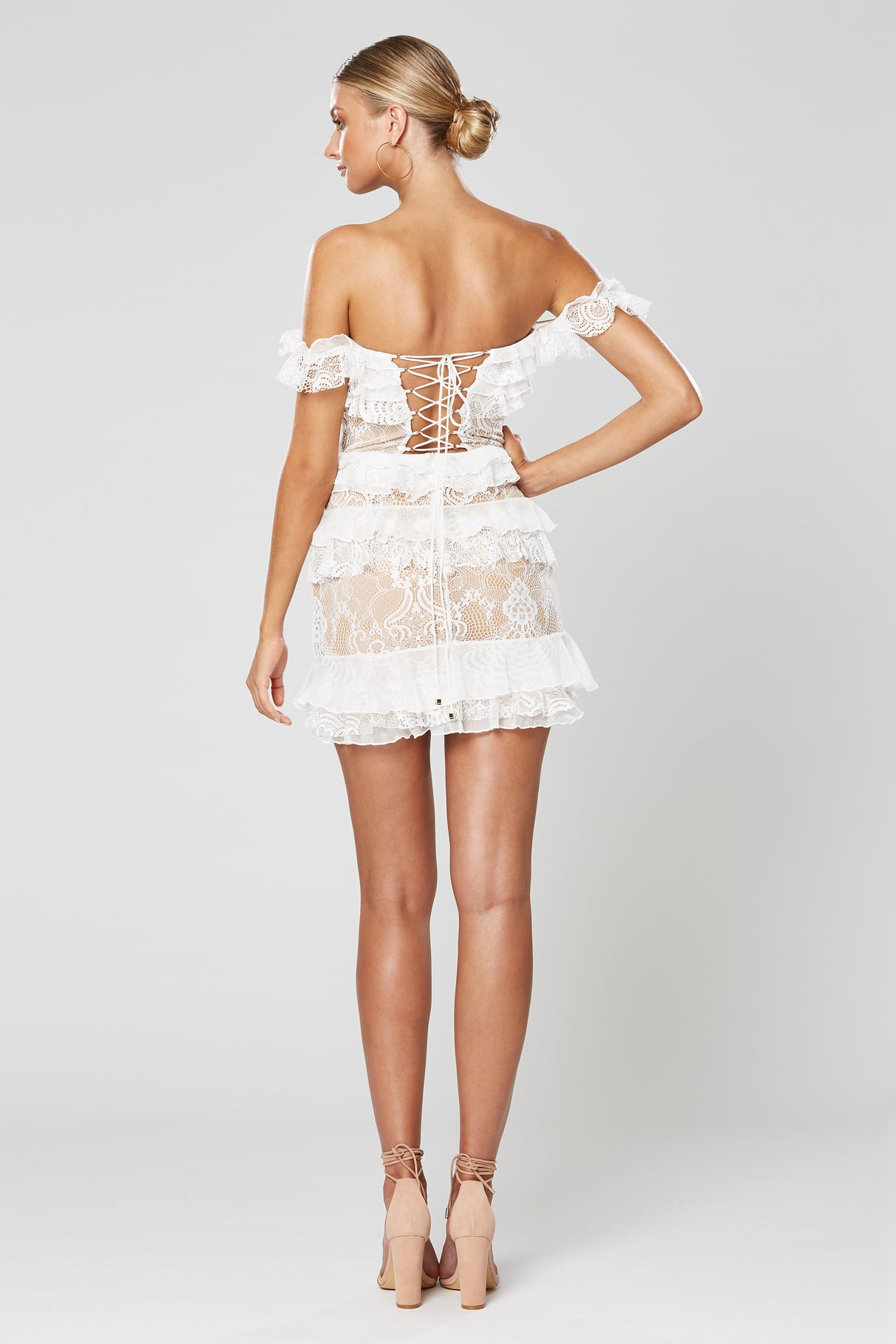 ROMANCE MINI DRESS WHITE