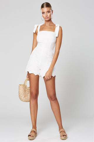MOXIE SHIRRING DRESS WHITE