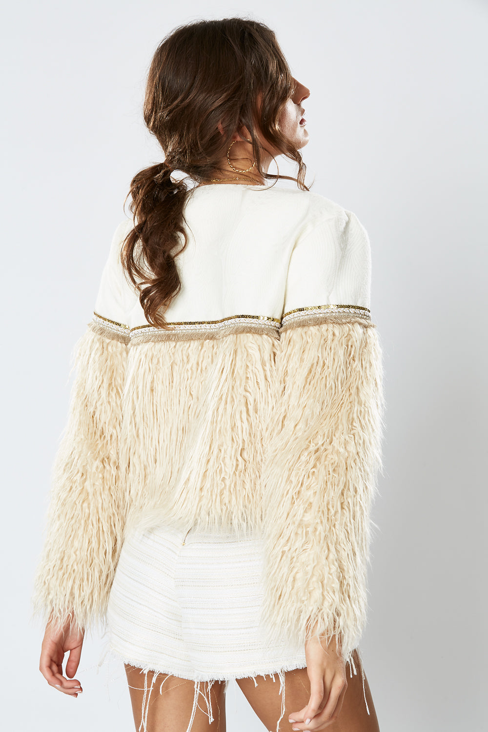 DUCHESS CROP JACKET LATTE
