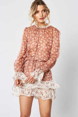 HIGH TEA LONG SLEEVE DRESS