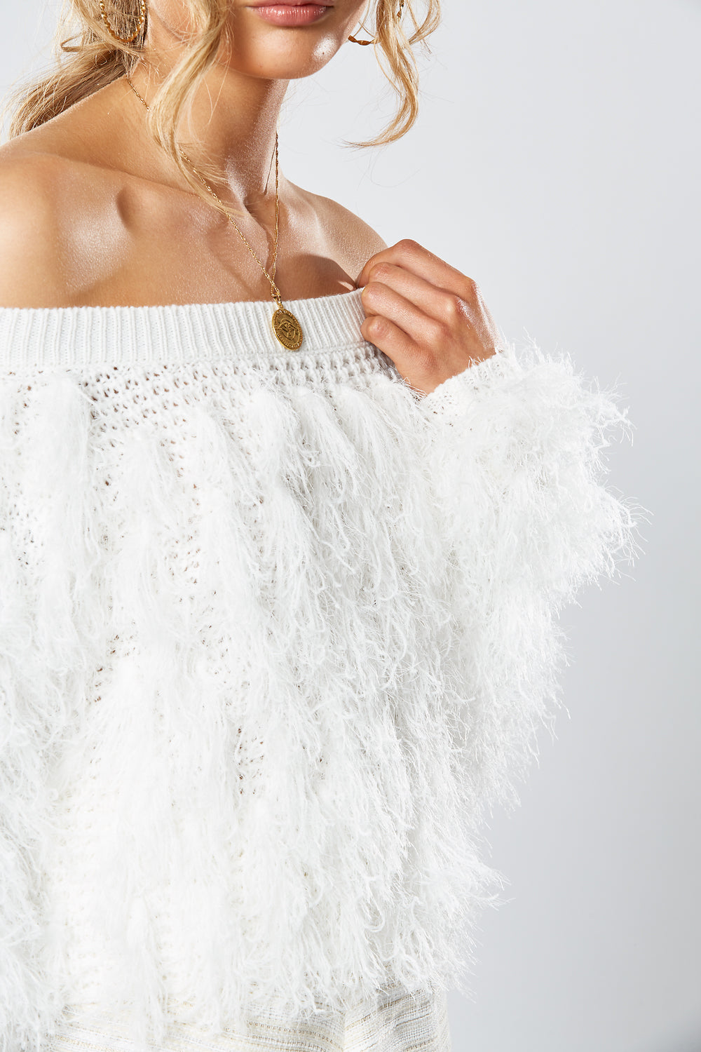 SIBERIA CROP KNIT WHITE