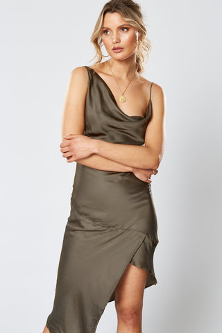 GOLD RUSH ASYMMETRICAL DRESS