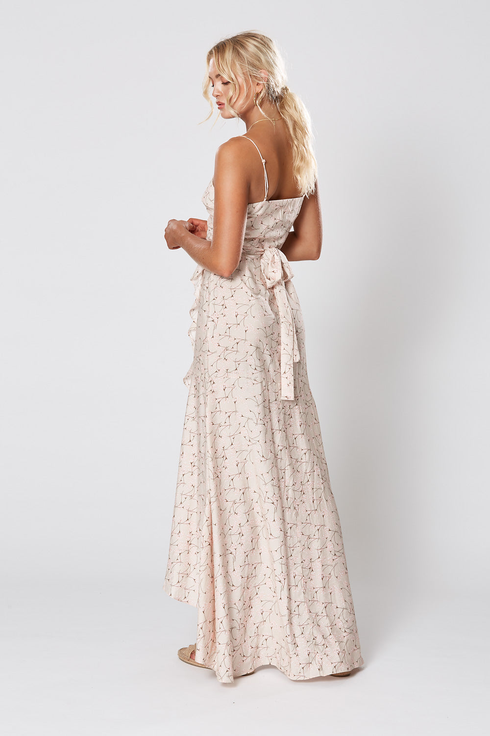 ST GERMAIN WRAP MAXI DRESS
