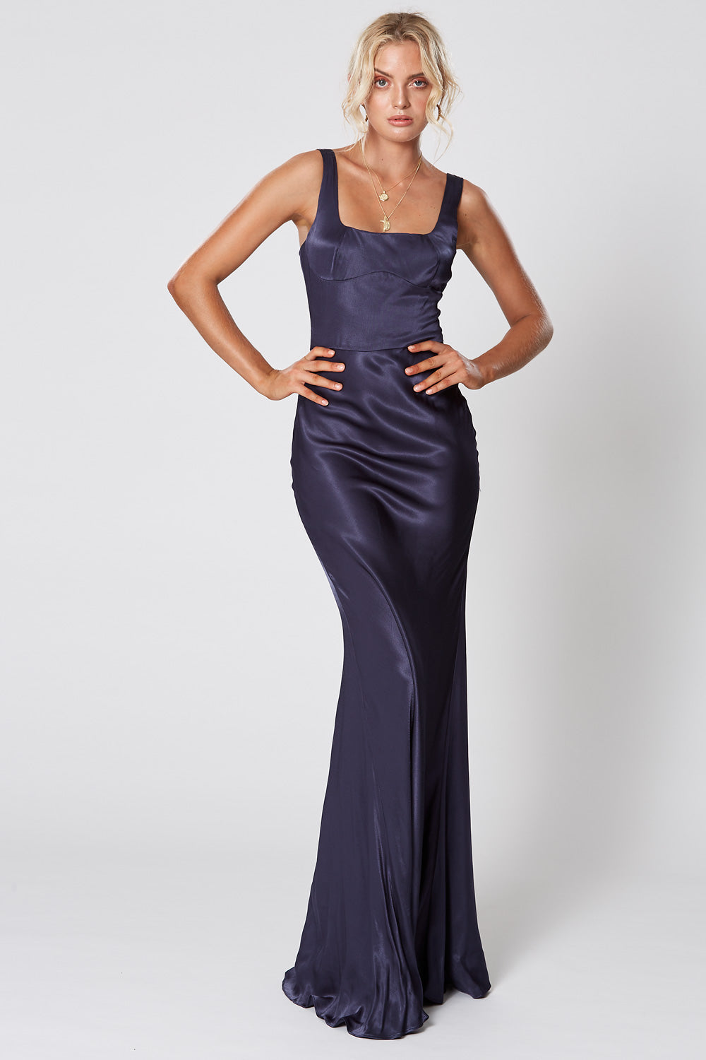 LADY OF THE NIGHT DRESS NAVY