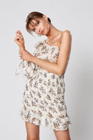 PAPERFLOWER TIE FRONT DRESS