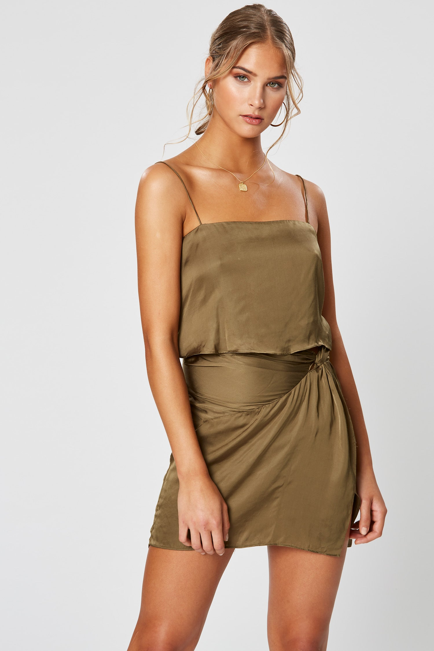 GERMAINE DRESS OLIVE