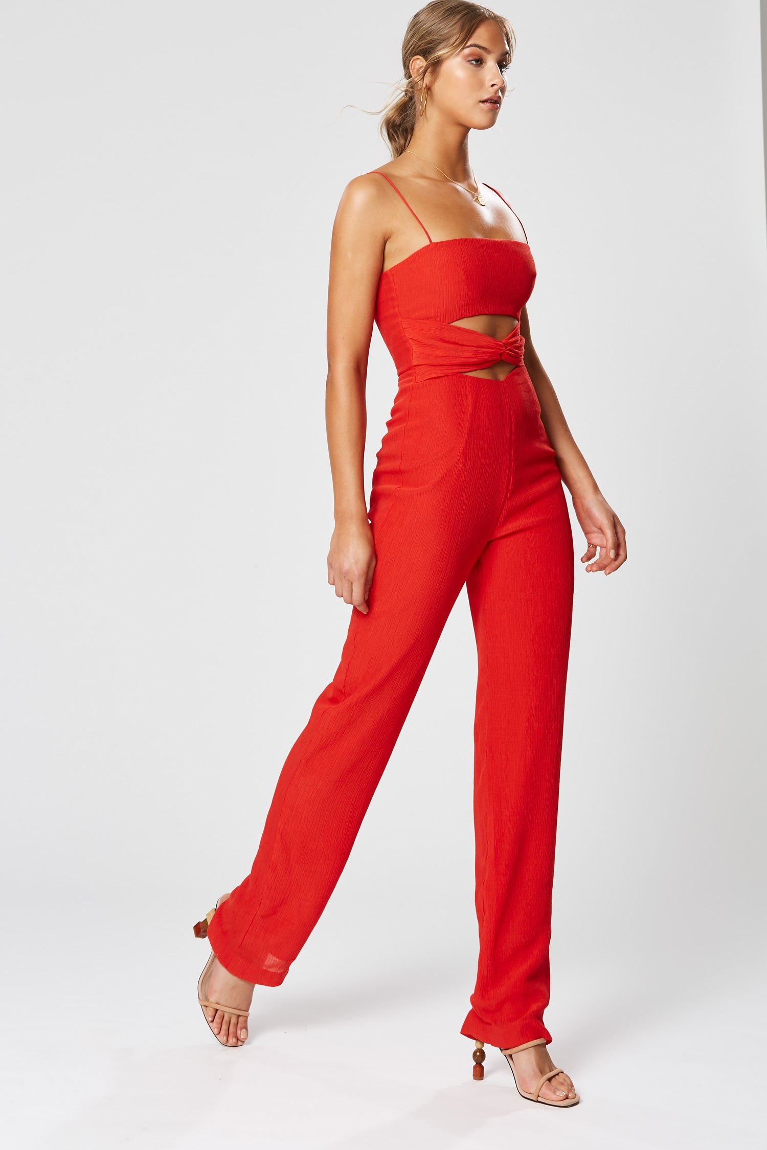 CLEO JUMPSUIT RED