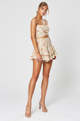 ROSA SHIRRING SHORT DRESS