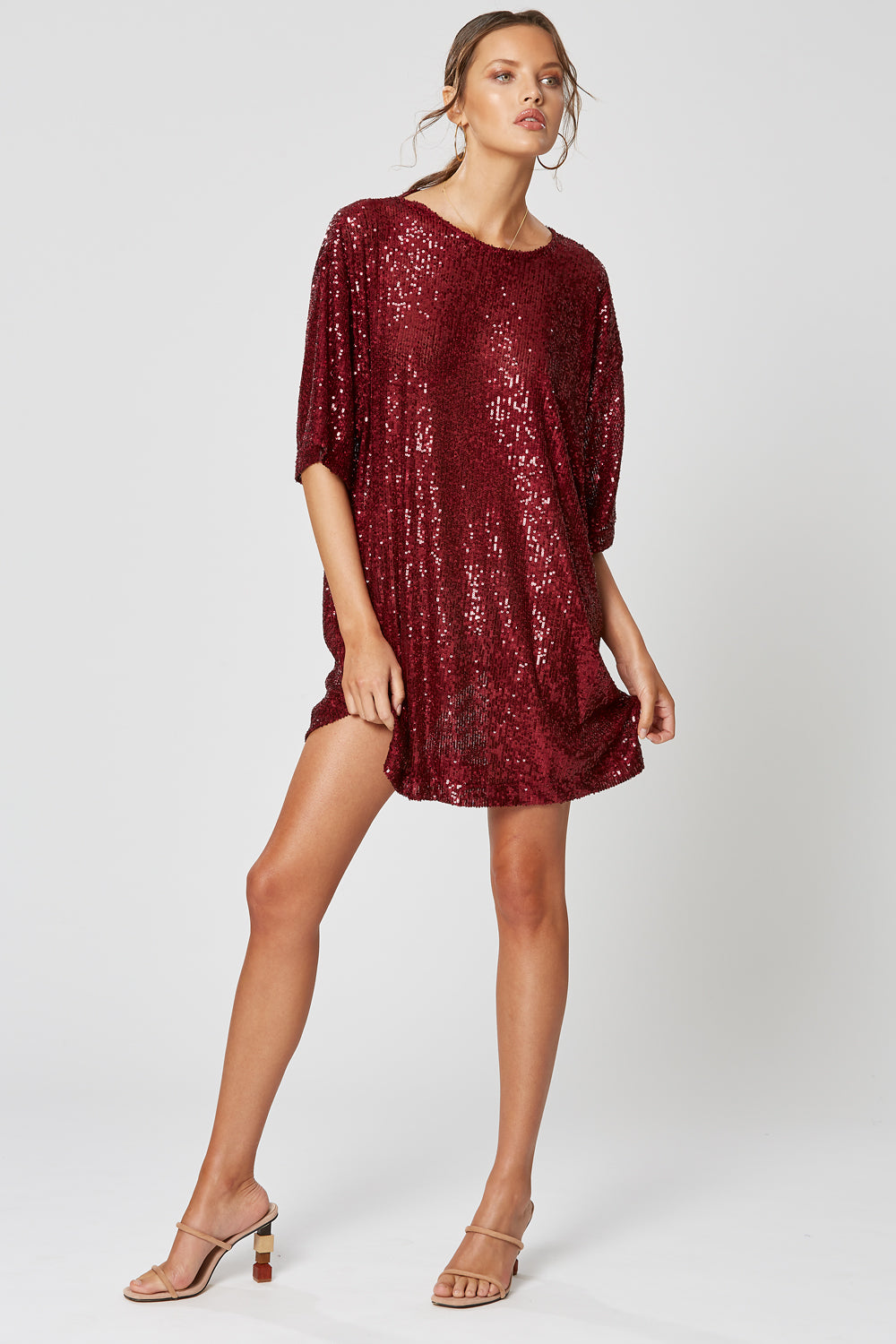 STELLA OVERSIZED TOP WINE