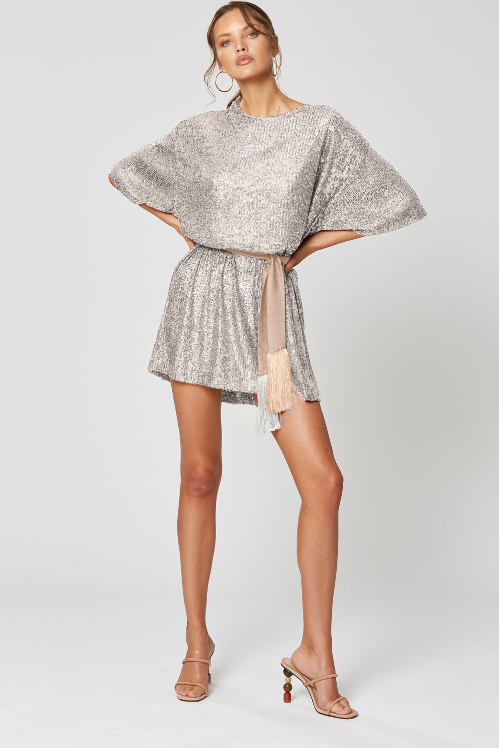 STELLA OVERSIZED TOP SILVER