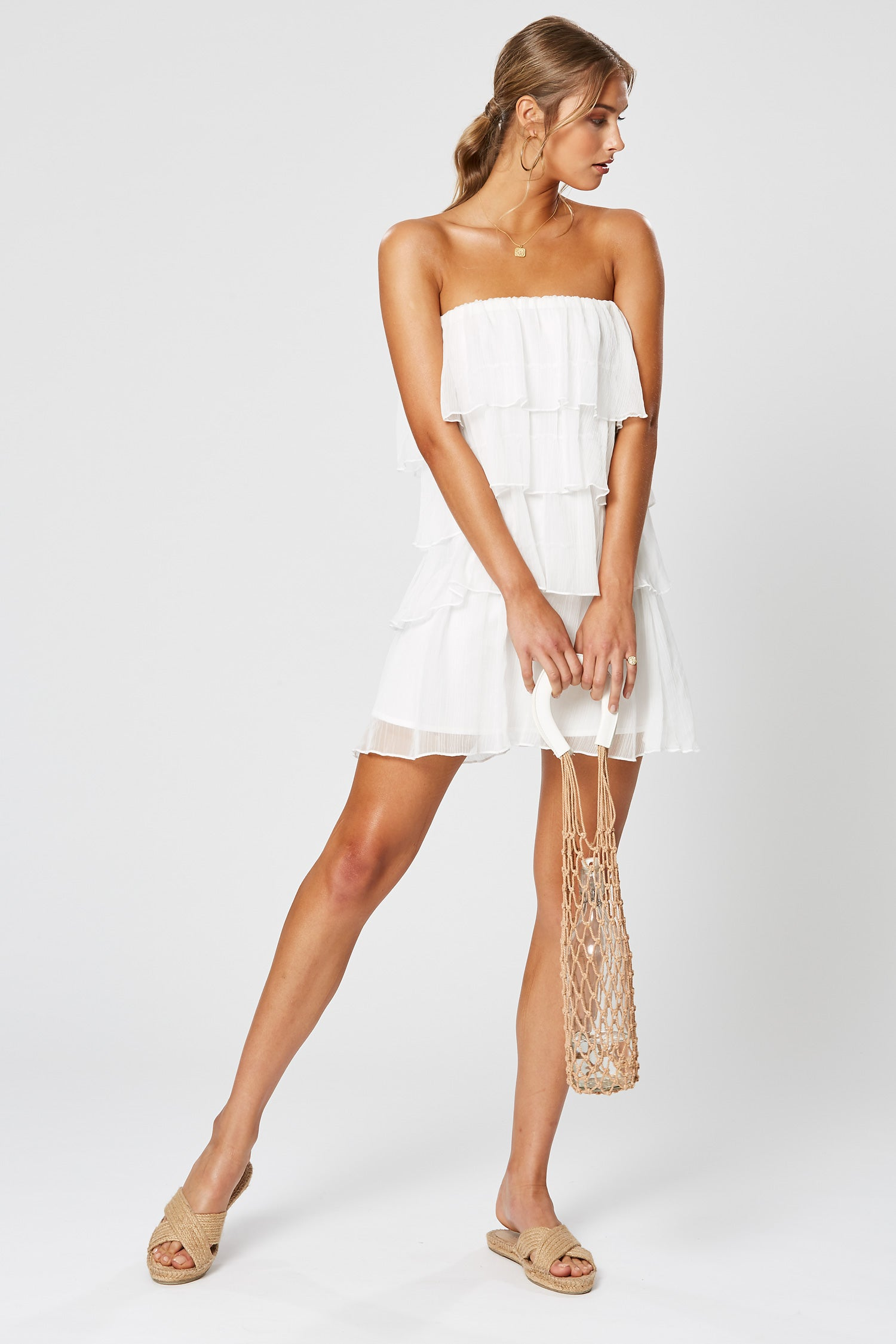 HALO RUFFLE DRESS