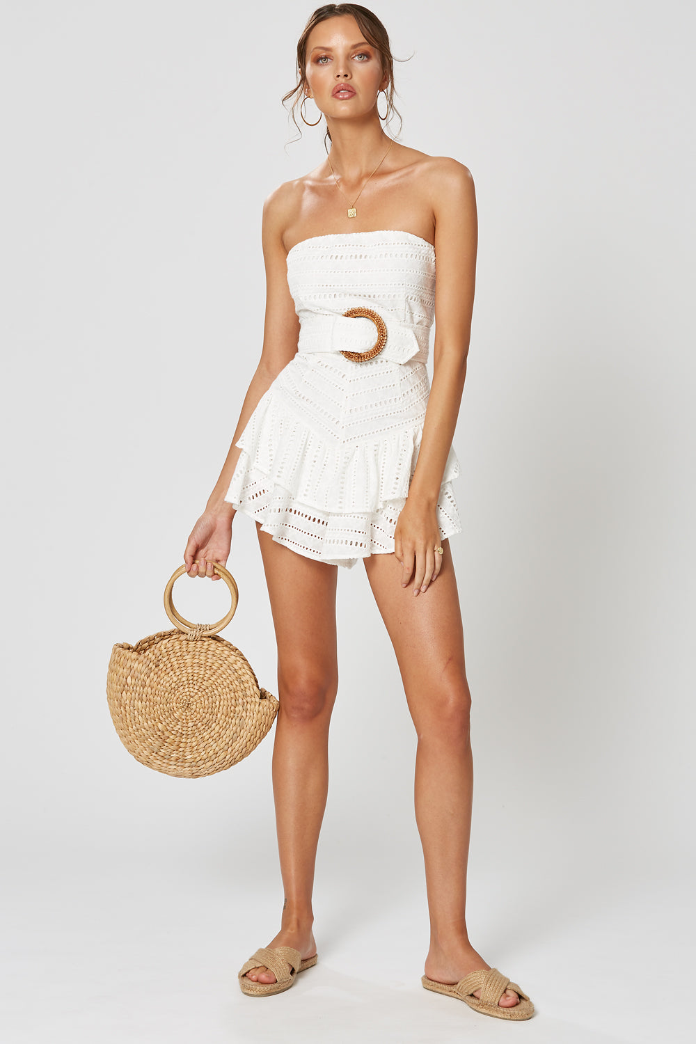 MABEL PLAYSUIT WHITE