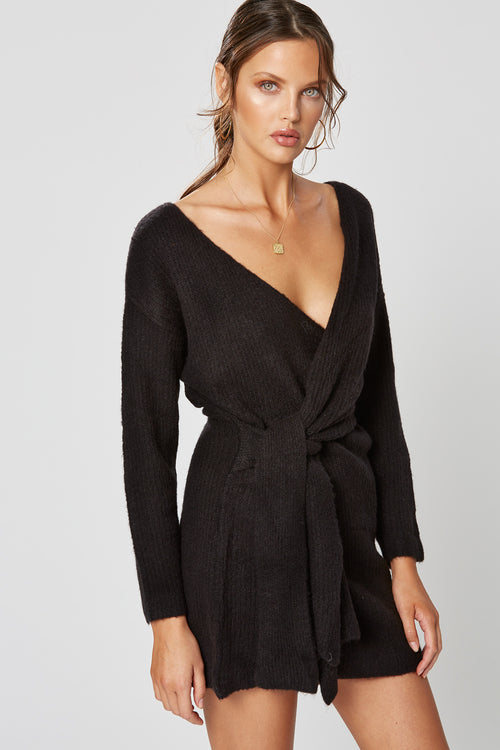 CARIBOU KNOT DRESS BLACK