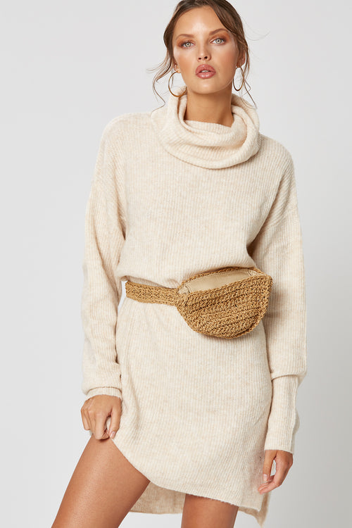 RAVEN KNIT DRESS OATMEAL