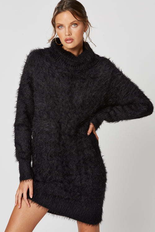 BICHON KNIT DRESS BLACK