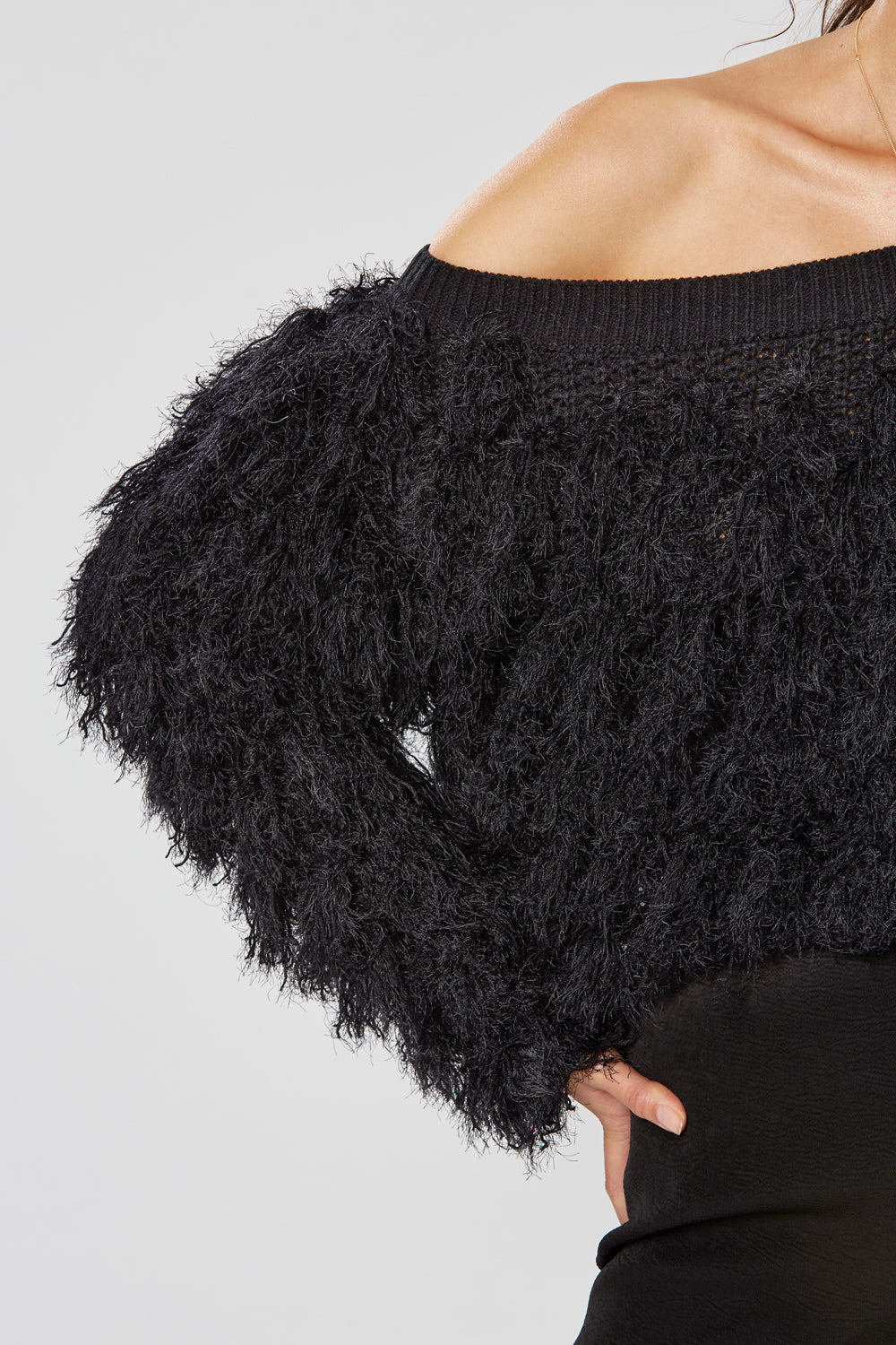 SIBERIA CROP KNIT BLACK