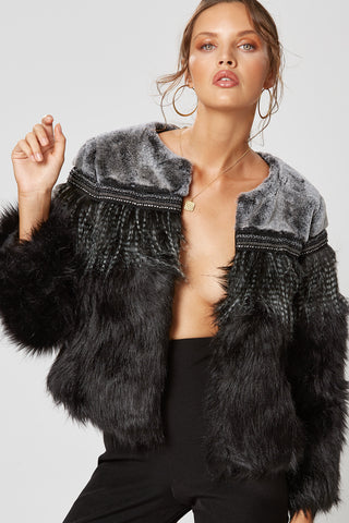 TASSEL JACKET BLACK