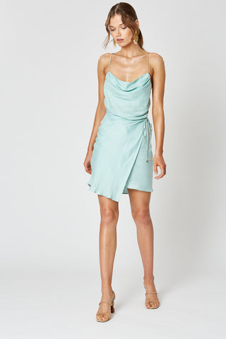 BROADWAY SHORT DRESS BABY BLUE
