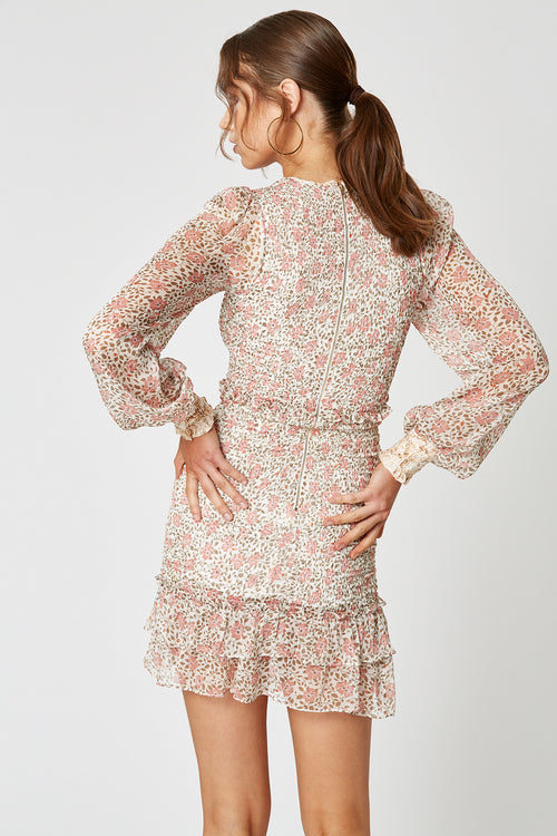 DESERT ROSE LONG SLEEVE DRESS