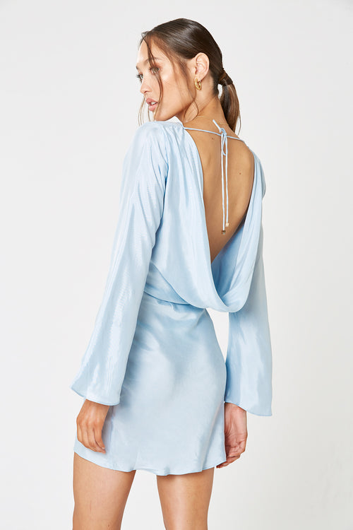 MEZZO BACKLESS DRESS BLUE
