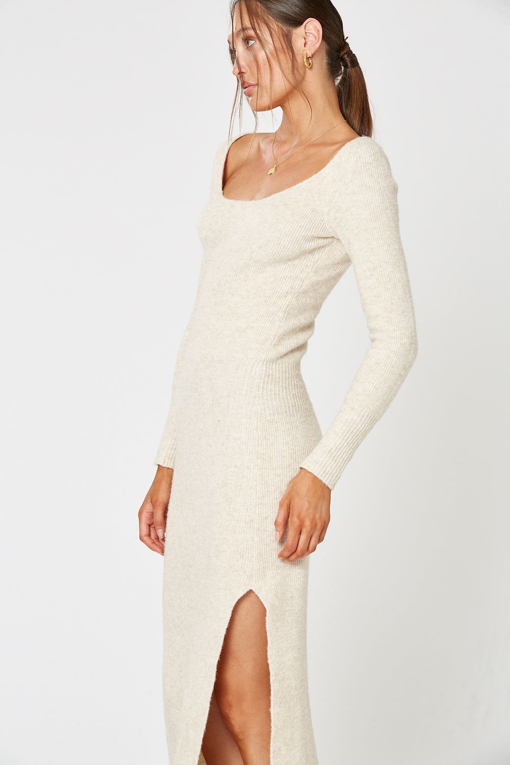 SONATA KNIT DRESS OATMEAL