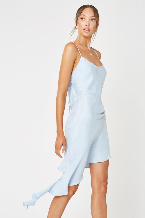MEZZO ASYMMETRICAL DRESS BLUE