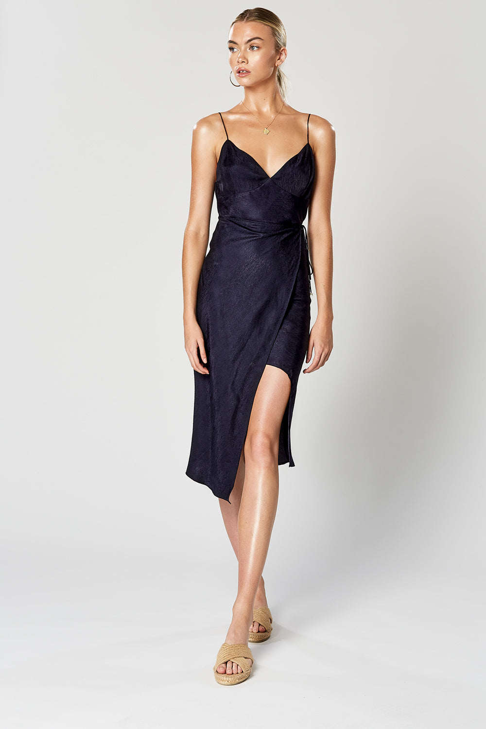 VIRTUE WRAP DRESS NAVY