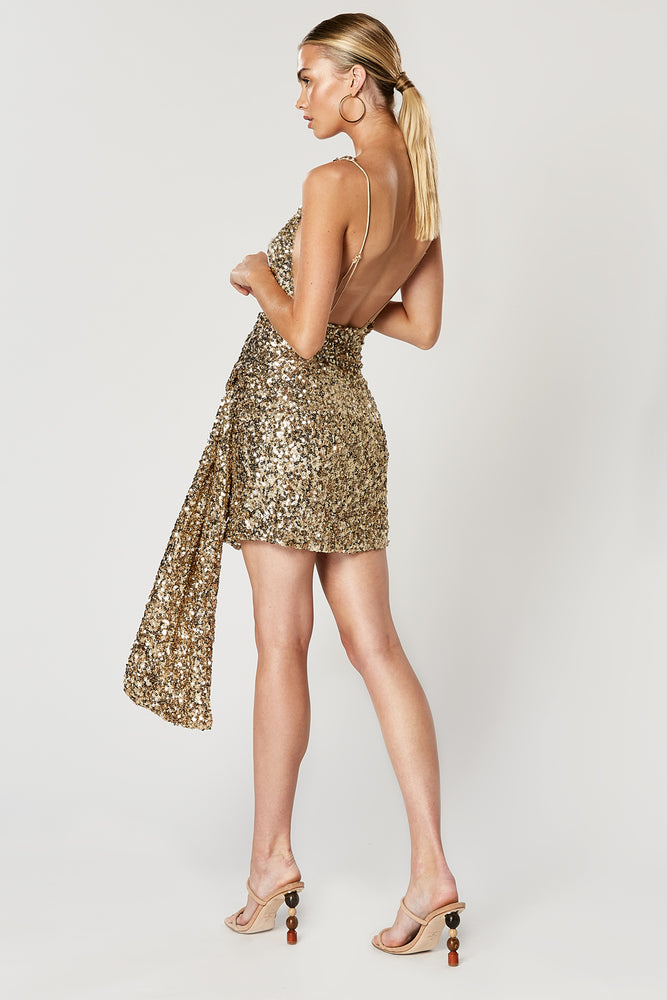 THRILL BACKLESS DRESS