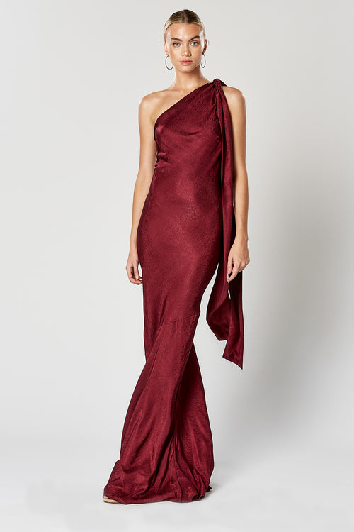 VIRTUE MAXI DRESS WINE