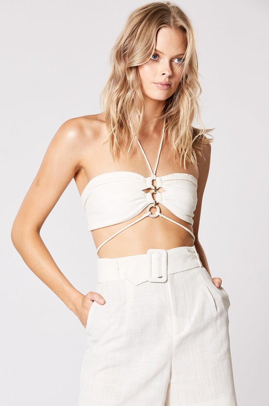 AMITY RING TOP WHITE